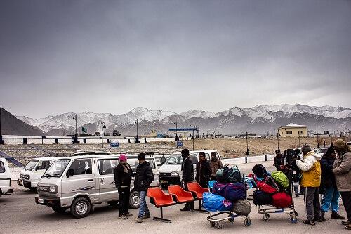 Departure From Leh Airport