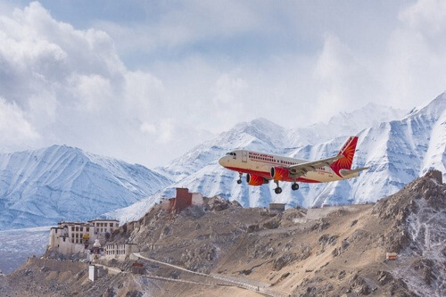 Leh Departure By Air