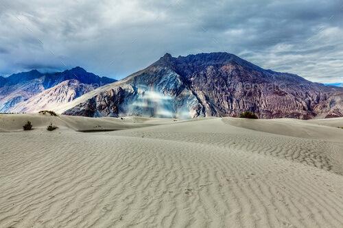 Sand Dunes, Hundur, Nubra Valley, Ladakh