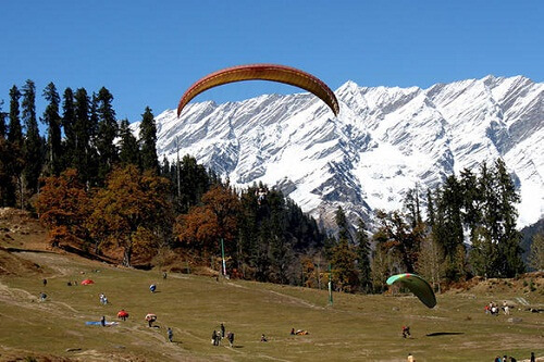 Paragliding Activity in Manali